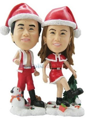 Custom Bobble Head | Santa's Elves Custom Bobblehead | Gift Ideas For Couples