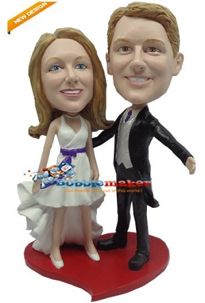 We Present Man And Wife bobblehead Doll