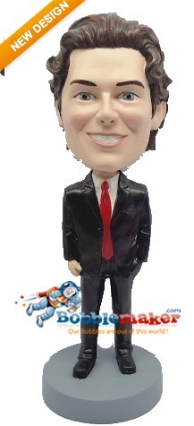 Hand In Pocket Executive bobblehead Doll