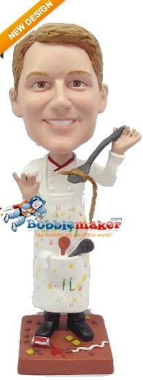 Dirty Male Chef bobblehead Doll