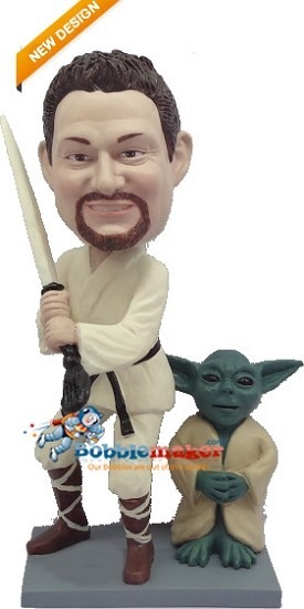 Luke and Yoda bobblehead Doll