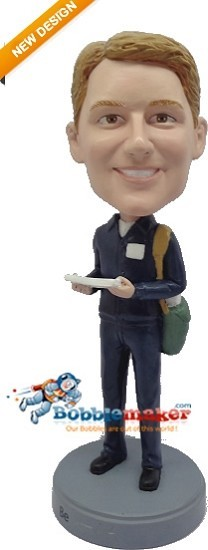 Postman With Mail bobblehead Doll