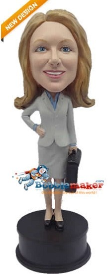 Custom Bobble Head | Professional Woman With Briefcase Bobblehead | Gift Ideas For Women