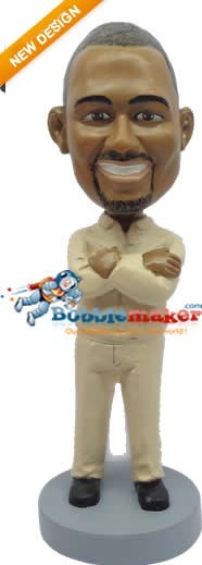 Crossed Arms Man bobblehead Doll
