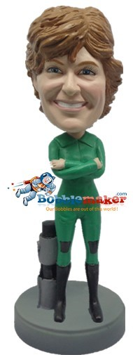 Scuba Diver Woman bobblehead Doll