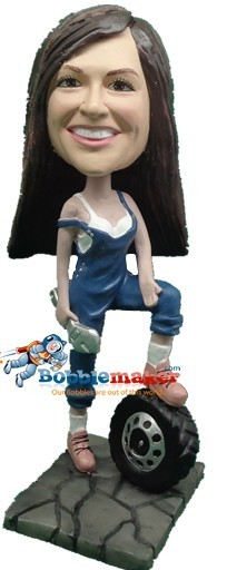 Female Mechanic bobblehead Doll