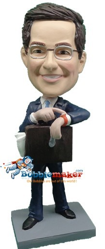 Late Business Man bobblehead Doll