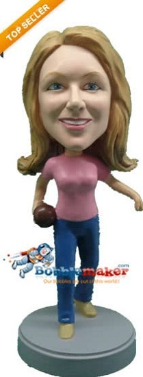 Bowler Female bobblehead Doll
