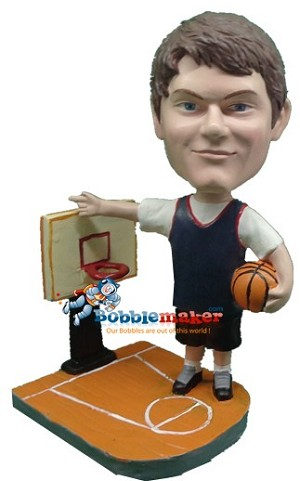 Custom Bobble Head | Man On Basketball Court Bobblehead | Gift Ideas For Men