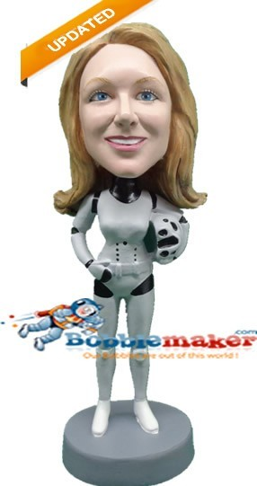 Storm Trooper Female bobblehead Doll