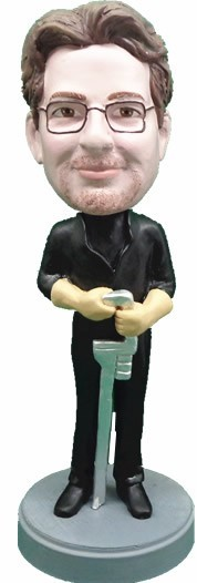 Custom Bobble Head | Plumber With Wrench Bobblehead | Gift Ideas For Men
