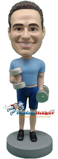 Custom Bobble Head | Man Lifting Weights Bobblehead | Gift Ideas For Men