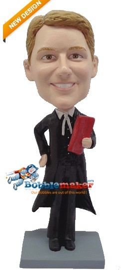 Classic Lawyer With Book bobblehead Doll