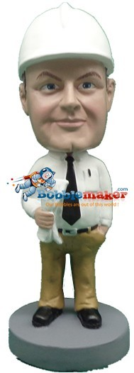 Construction Foreman bobblehead Doll