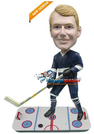 Hockey Player On Ice bobblehead Doll