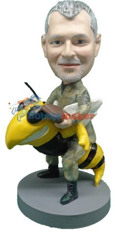 Navy Sea Bee Man bobblehead Doll