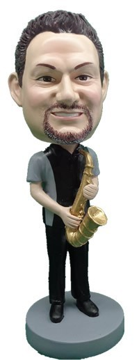 Saxophone Player Man bobblehead Doll 3
