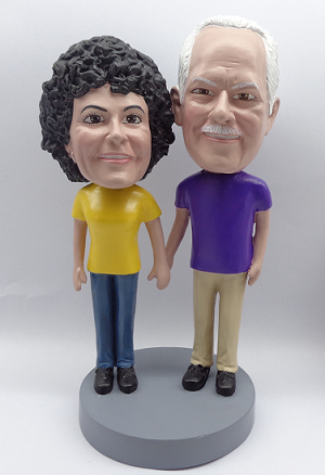 Custom Bobble Head | Holding Hands Man And Woman Bobblehead 2 | Gifts for Couples