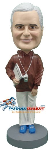 Coach With Clipboard bobblehead Doll