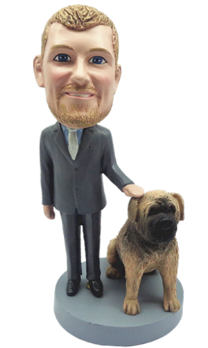 Man With Dog bobblehead Doll 2