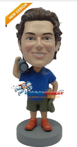 Camera Man bobblehead Doll