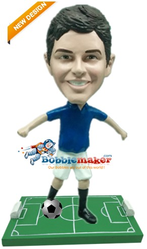 Custom Bobble Head | Man Dribbling Soccer Ball Bobblehead | Gift Ideas For Men