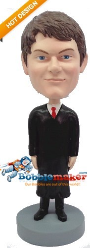 Judge Male bobblehead Doll