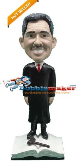 Male Judge On Law Book bobblehead Doll