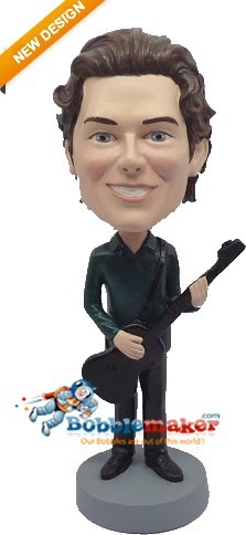 Man With Guitar bobblehead Doll