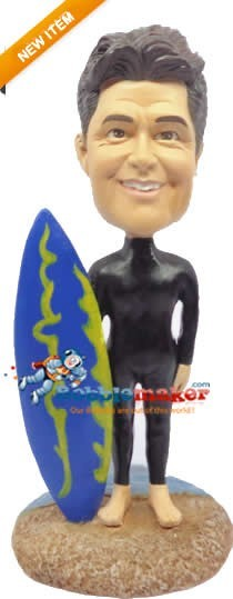 Wet Suit Surfer bobblehead Doll