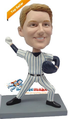 Custom Bobble Head | Throwing Baseball Custom Bobblehead | Gift Ideas For Men