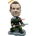 Custom Bobble Head | Fireman With Hose Bobblehead | Gift Ideas For Men