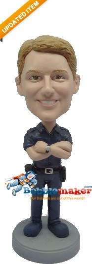 Policeman Arms Crossed bobblehead Doll