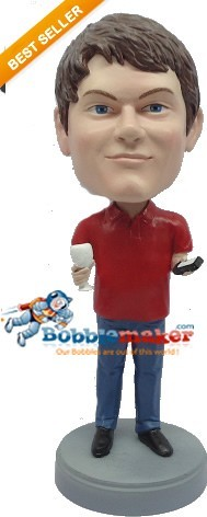 Custom Bobble Head | Man With Wine Glass Bobblehead | Gift For Men