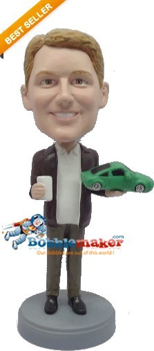 Male Car Salesman bobblehead Doll