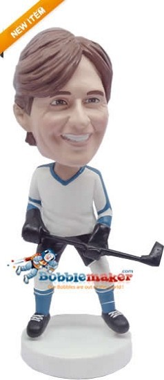 Hockey Playing Male bobblehead Doll