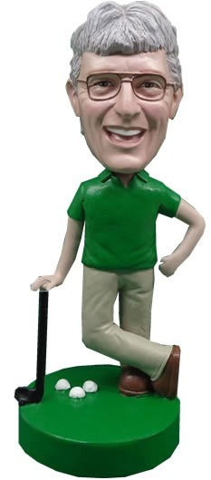 Putt For Dough Male Golfer bobblehead