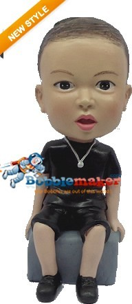 Casual Male With Necklace bobblehead Doll