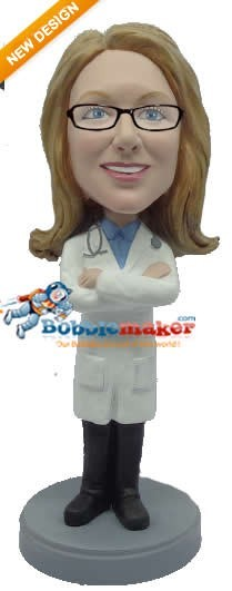 Doctor Woman bobblehead Doll