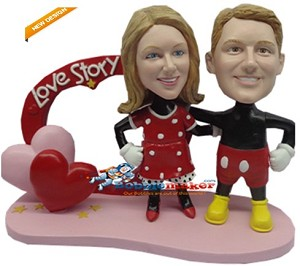 Mickey Mouse Lovers Couple bobblehead Doll