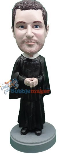 Priest Holding Cross bobblehead Doll 2