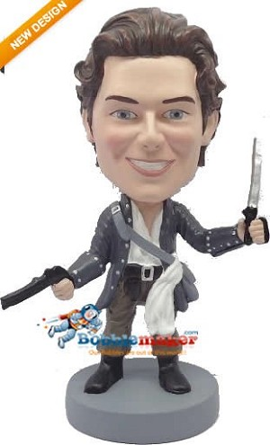 Custom Bobble Head | Pirate With Pistol And Dagger Bobblehead | Gift For Men