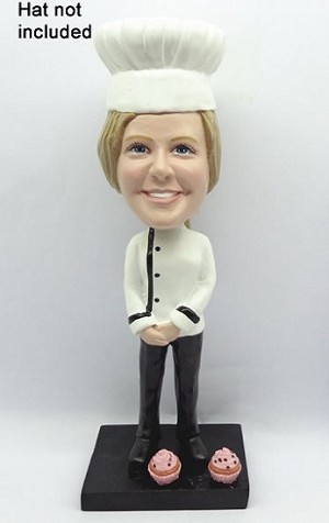 Female Chef bobblehead Doll