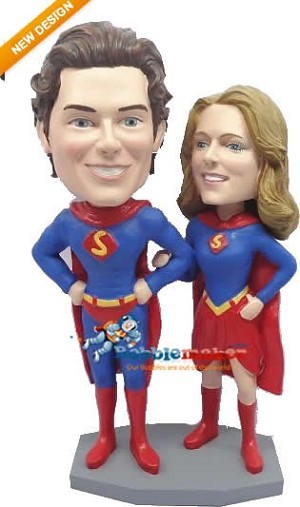 Superman And Superwoman Couple bobblehead Doll