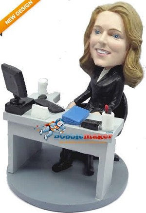 Custom Bobble Head | Woman At Desk Bobblehead | Gift Ideas For Women