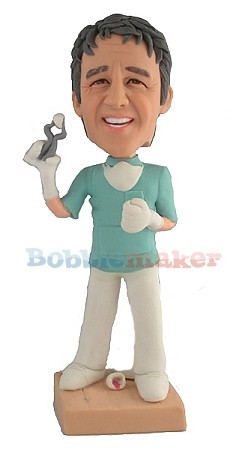 Male Dentist With Tooth bobblehead Doll