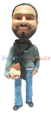 Custom Bobblehead | Sweater And Scarf Male Bobblehead