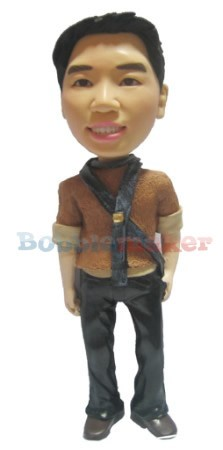 The Hipster Man bobblehead Doll