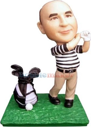 Custom Bobble Head | Male Golfer With Bag And Club | Gift Ideas For Men