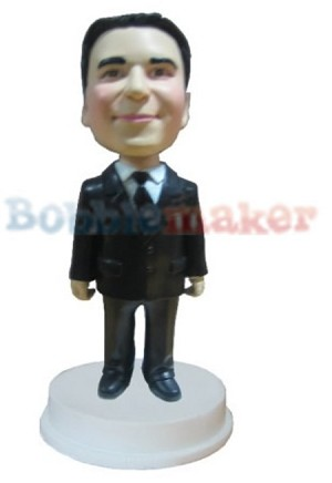 Custom Bobble Head | Executive In Suit And Tie Stocky Body | Gift Ideas For Men
